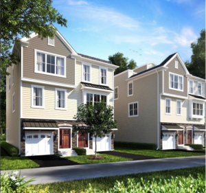 professional rendering of the cinnaminson town homes exterior