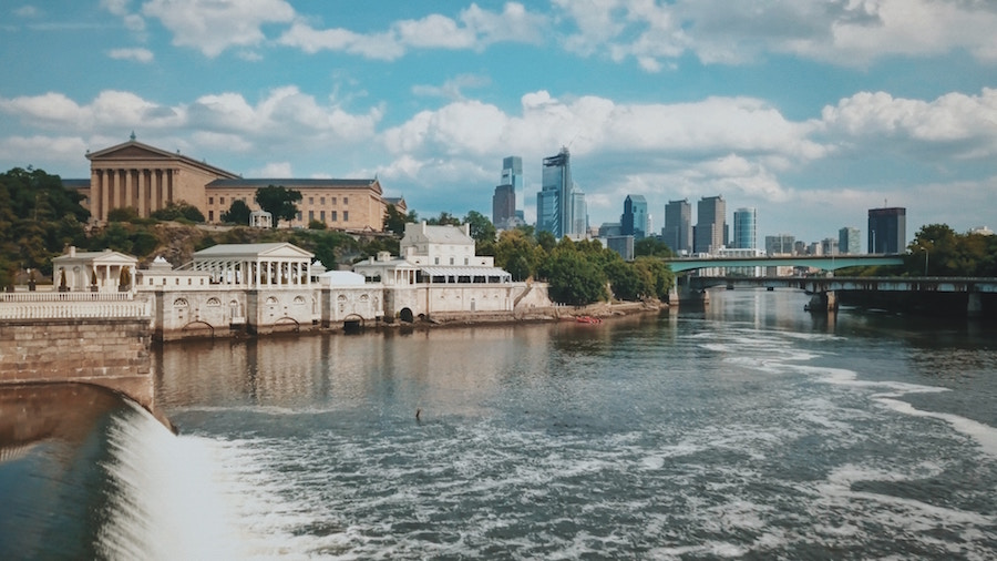 Top Philly communities on the water with skyline view.