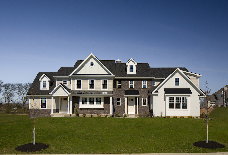 The exterior of a home for sale in Julius Farms.