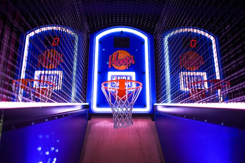 basketball at barcade